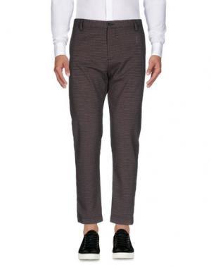 Повседневные брюки OFFICINA 36. Цвет: красно-коричневый