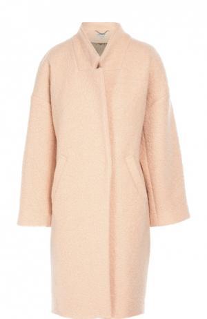 Пальто прямого кроя со спущенным рукавом Flashin. Цвет: персиковый