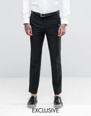 Farah Зауженные брюки под смокинг. Цвет: темно-синий