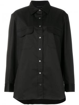 Рубашка на пуговицах The Row. Цвет: чёрный