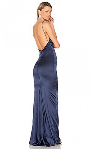Вечернее платье sachi lu Gemeli Power. Цвет: синий