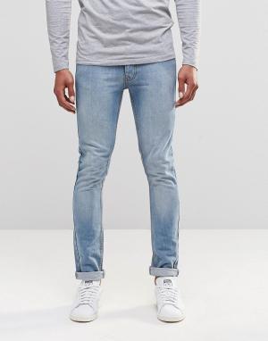 LDN DNM Светлые джинсы слим. Цвет: синий