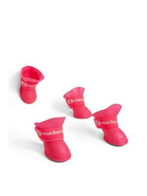 Сапожки Прогулка под дождем для миниатюрных и маленьких собак весом 2-8 кг Nothing but Love. Цвет: розовый