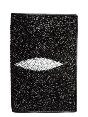 Обложка для паспорта из кожи морского ската MEYNINGER. Цвет: черный