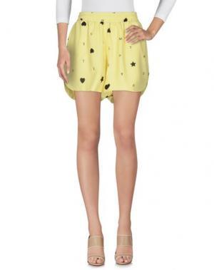 Повседневные шорты EMPATHIE. Цвет: желтый