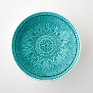 4 чаши керамических Nicolosi AM.PM.. Цвет: бирюзовый,серый