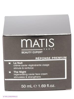 Премиальная линия ночной крем, 50 мл Matis. Цвет: черный, серебристый