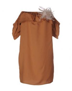 Блузка SOUVENIR. Цвет: верблюжий