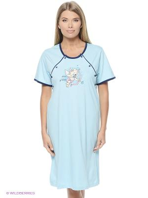 Платье Vienetta Secret. Цвет: голубой
