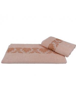 Махровое полотенце 100x150 RUZANNA, персиковый, 100% хлопок HOBBY HOME COLLECTION. Цвет: персиковый