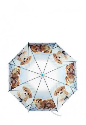 Зонт-трость Vitacci. Цвет: голубой