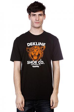 Футболка  Wild Cat Black Dekline. Цвет: черный