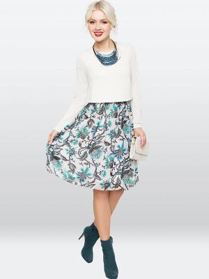 Платье E.Levy. Цвет: молочный