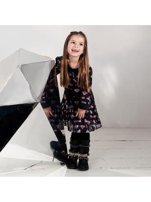 Платье, DESIRA, цвет черный/мульти (BLACK DIAMOND) SUPERTRASH