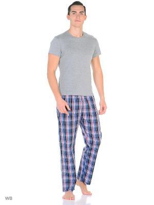 Домашние брюки YC COTTON. Цвет: красный