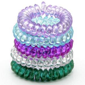 Комплект Резинок-Пружинок для волос 5 шт/уп, арт. РПВ-256 Бусики-Колечки. Цвет: разноцветный