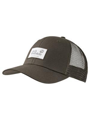 Бейсболка HERITAGE CAP Jack Wolfskin. Цвет: коричневый