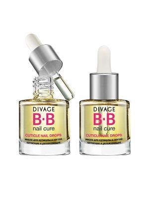Divage Bb - Масло для кутикулы и ногтей питающее увлажняющее cuticle nail drops. Цвет: прозрачный