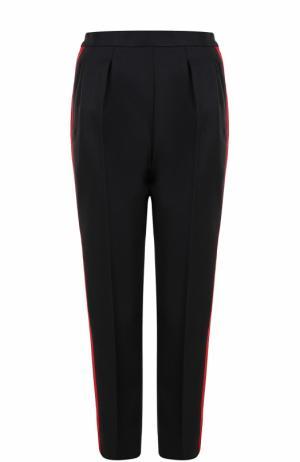 Укороченные шерстяные брюки с лампасами Maison Margiela. Цвет: синий