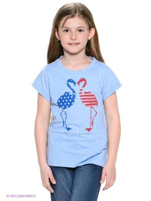 Футболка American Outfitters. Цвет: голубой, красный, синий
