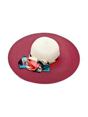 Шляпа Kameo-bis. Цвет: бордовый, белый, голубой