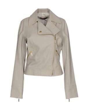 Куртка LALTRAMODA. Цвет: светло-серый