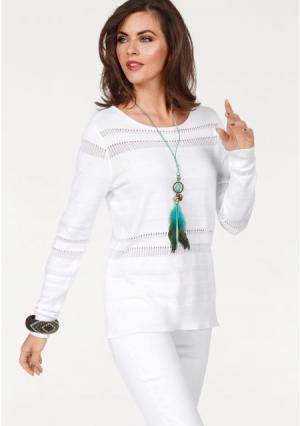 Пуловер Laura Scott. Цвет: белый, хаки