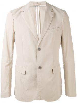 Пиджак с карманами клапанами Paolo Pecora. Цвет: телесный