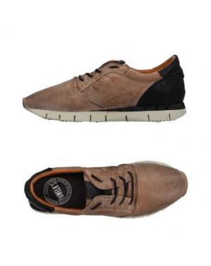 Низкие кеды и кроссовки PAWELK'S. Цвет: хаки