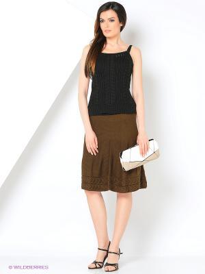 Юбка Milana Style. Цвет: коричневый