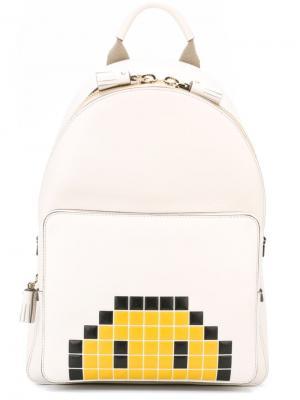 Мини рюкзак Smiley Anya Hindmarch. Цвет: белый