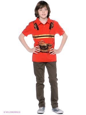 Футболка-поло Mini Shatsu. Цвет: красный