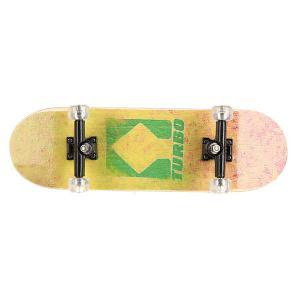 Фингерборд  П9 Turbo/Yellow/Green/Black/Clear Turbo-FB. Цвет: черный,белый,желтый,зеленый