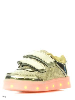 Кроссовки Kids Gloss LedShoes. Цвет: золотистый