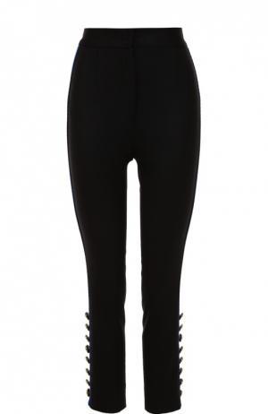 Укороченные брюки-скинни с контрастными лампасами Dolce & Gabbana. Цвет: черный