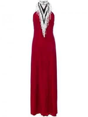 Вечернее платье с вырезом-петлей халтер Talitha. Цвет: красный