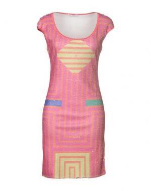 Короткое платье AGOGOA. Цвет: фуксия