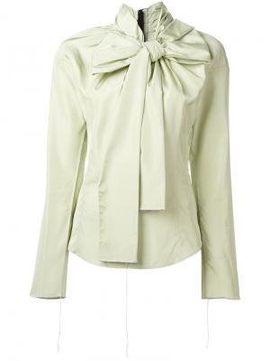 Блузка с бантом Marc Jacobs. Цвет: зелёный
