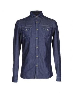 Джинсовая рубашка OBVIOUS BASIC. Цвет: синий