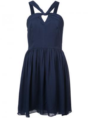 Расклешенное платье с бретельками на вороте  Lagence L'agence. Цвет: синий