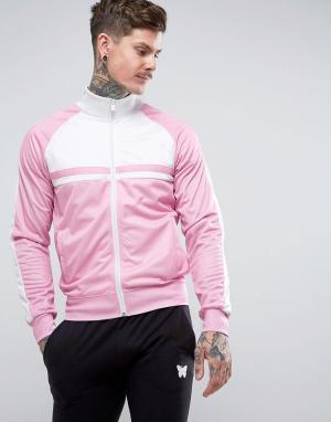 Good For Nothing Розовая спортивная куртка. Цвет: розовый