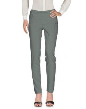 Повседневные брюки DONNA KARAN. Цвет: зеленый-милитари