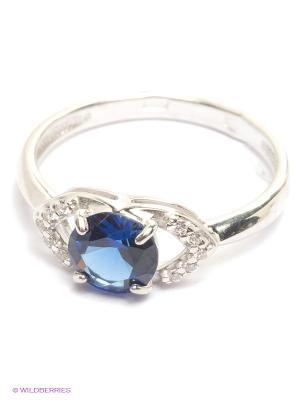 Кольцо SOKOLOV. Цвет: синий, серебристый
