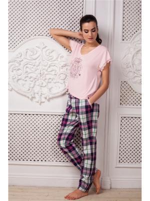 Пижама Laete. Цвет: розовый