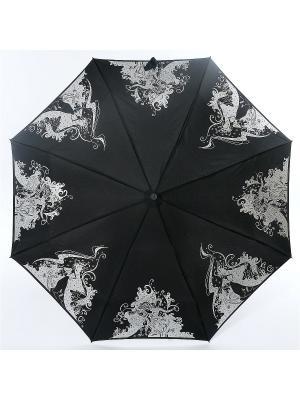 Зонт Zest. Цвет: черный, белый, серебристый