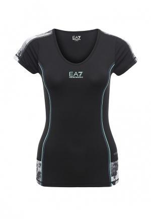 Футболка спортивная EA7. Цвет: черный