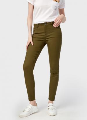 Узкие брюки OSTIN. Цвет: хаки