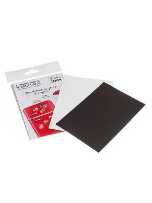 Рамка-фотобумага магнитная 10х15см, 3 шт. JJA. Цвет: черный