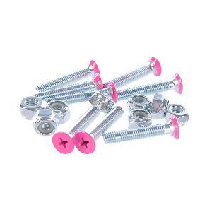 Винты для лонгборда  Deck Bolts Pink Phillips 1 1/8 Penny. Цвет: розовый