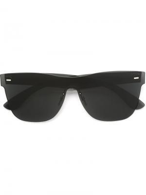 Большие солнцезащитные очки Tuttolente Classic Retrosuperfuture. Цвет: чёрный